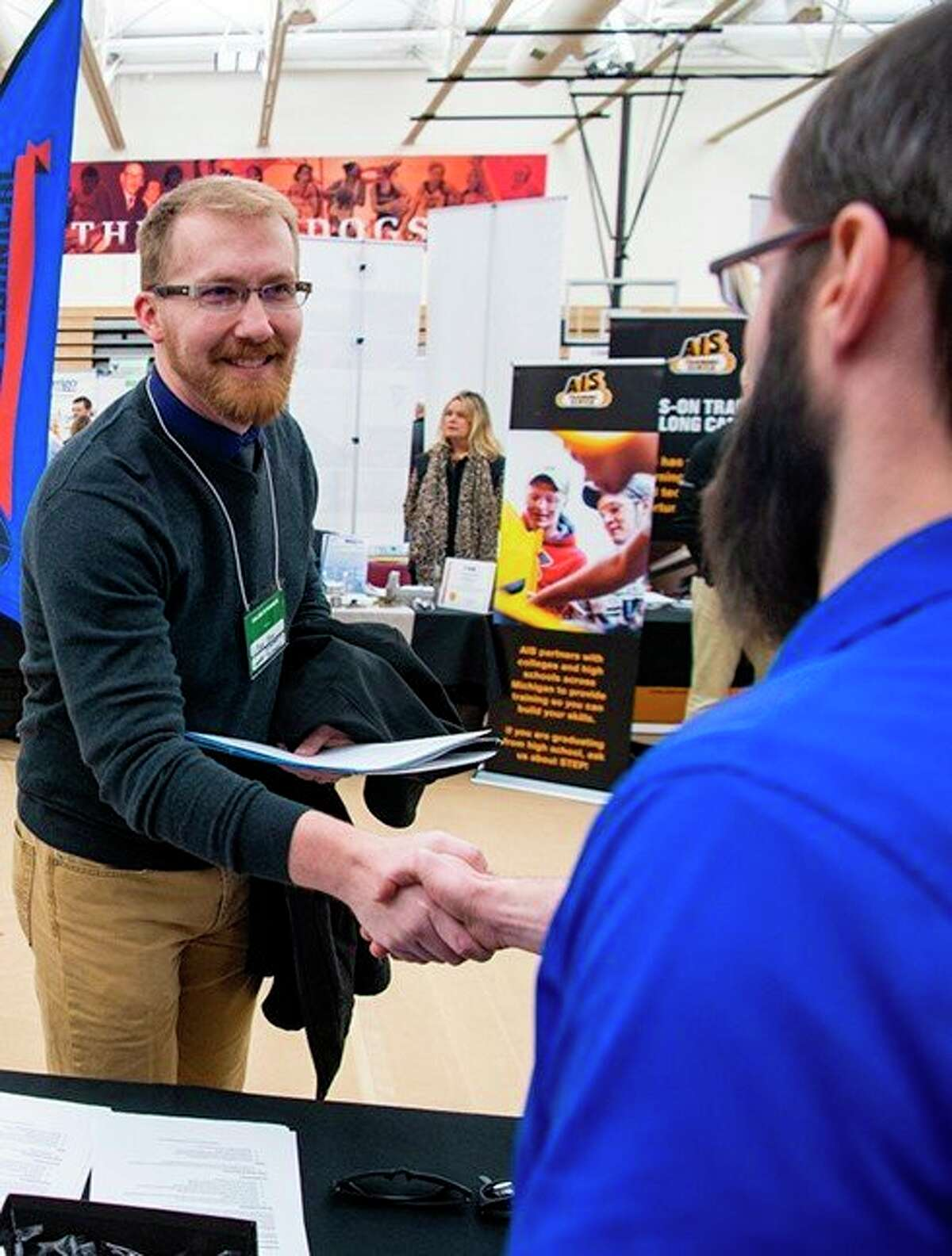 Ferris State University students and alumni are encouraged to review opportunities and access Handshake, or the Center for Leadership, Activities and Career Services ahead of Career and Internship Fairs during the Spring 2021 semester. The first of three fairs took place Feb. 17-18. (Courtesy photo)