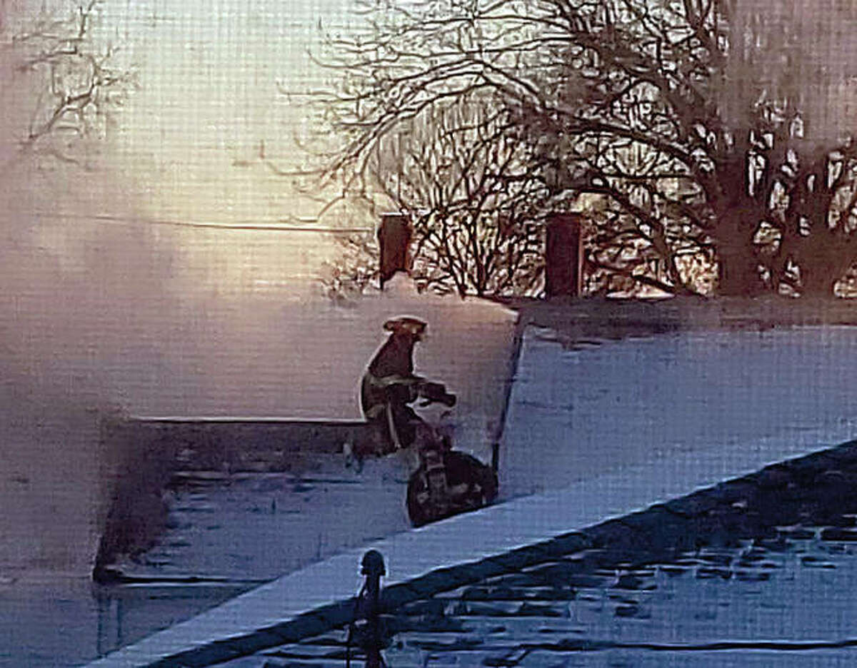 Winchester and Roodhouse firefighters respond to a fire Tuesday in Manchester.