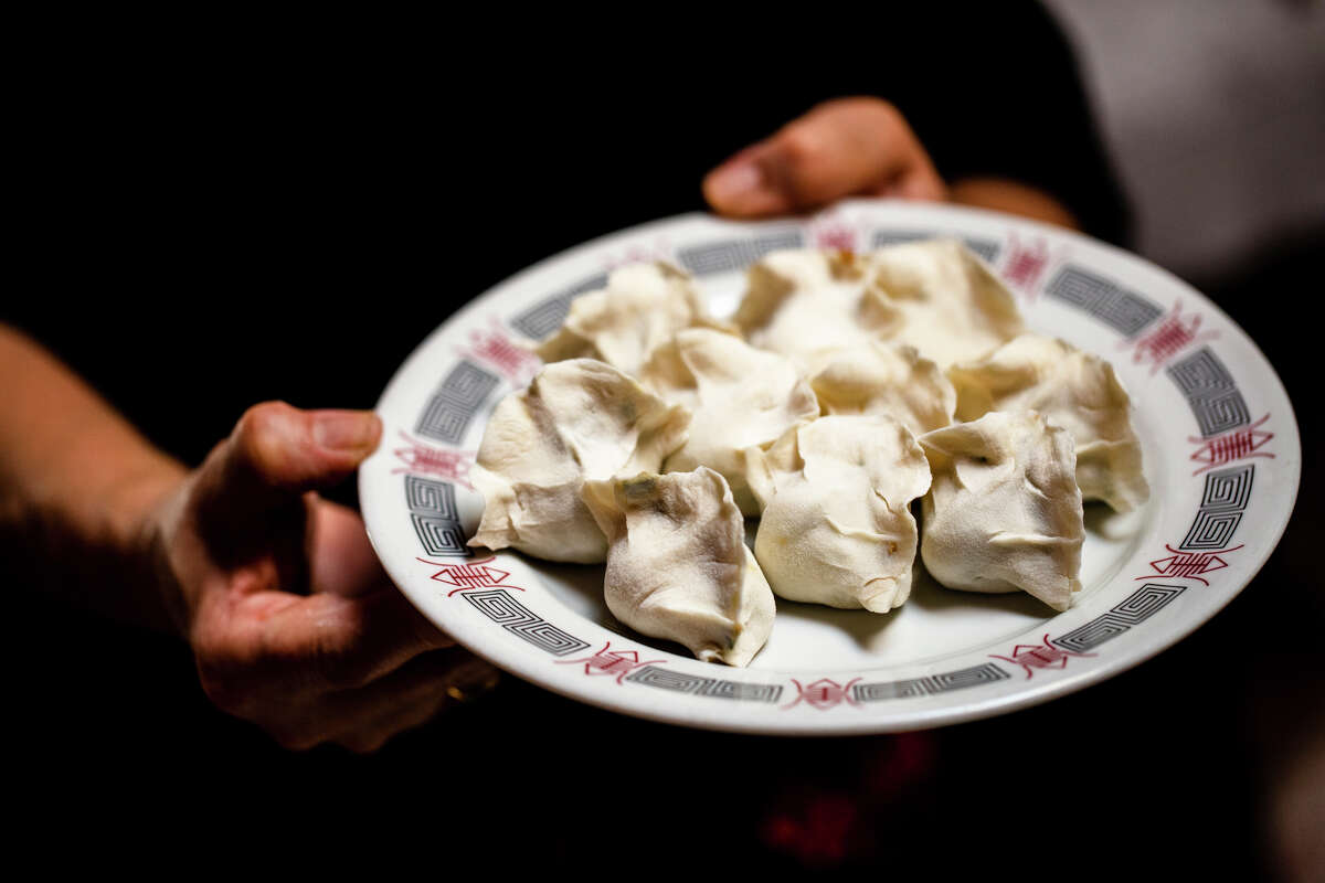 Freshly made dumplings at Old Mandarin Islamic Restaurant.