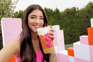 """Tiktok star Charli D'Amelio has teamed up with Dunkin' for a second time. The new """"Charli Cold Foam"""" drink is available starting Feb. 24."""