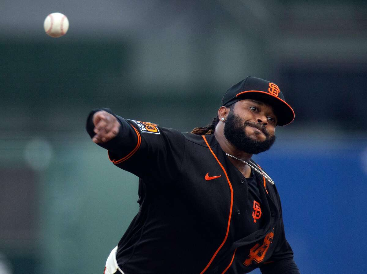 San Francisco Giants starting pitcher Johnny Cueto went 2-3 with a 5.40 ERA and threw only 63 ?...