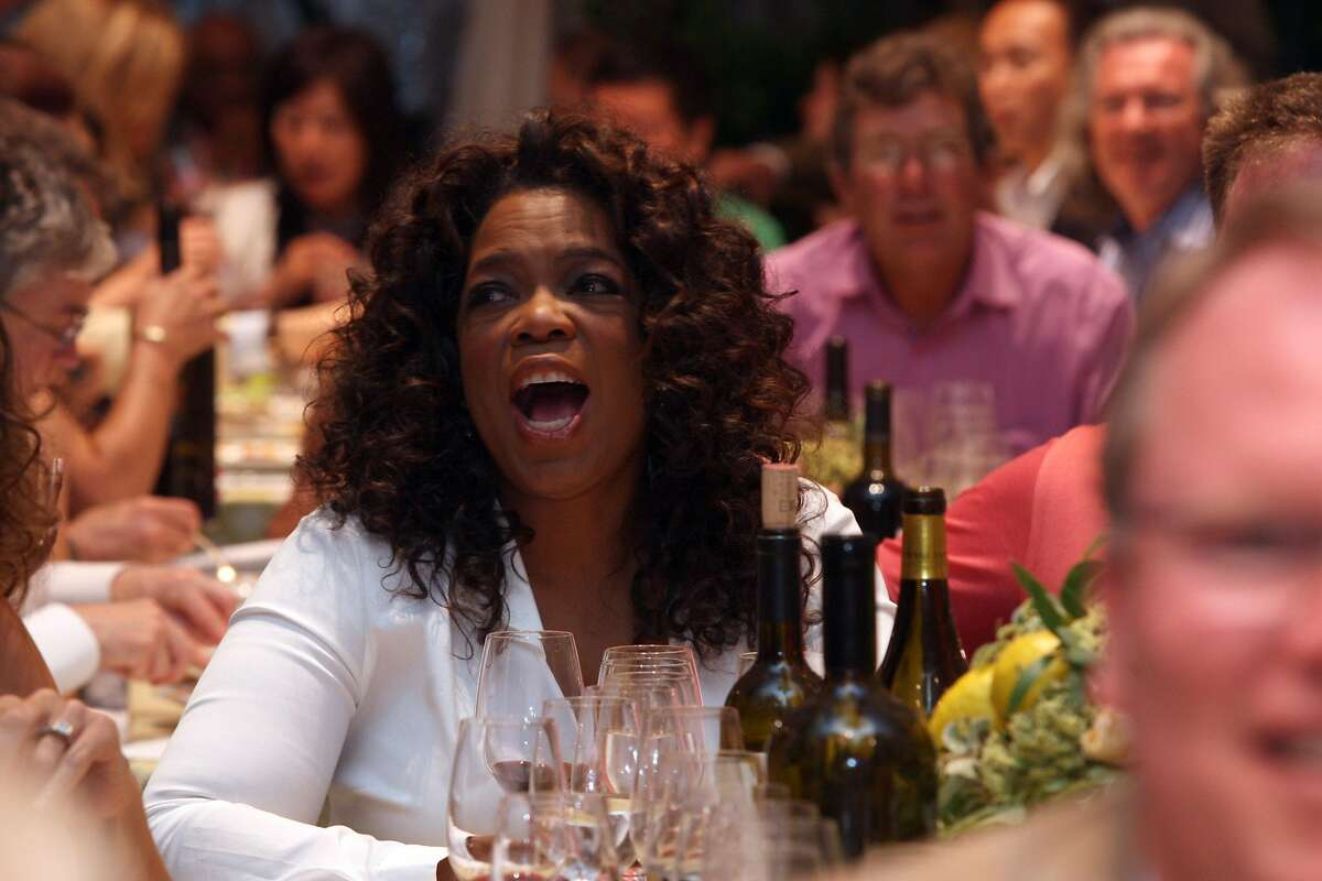 Oprah Winfrey at the annual Auction Napa Valley taking place on the golf course at Meadowood Resort in St. Helena, Calif., on Saturday, June 7, 2008. Photo by Liz Hafalia/The Chronicle
