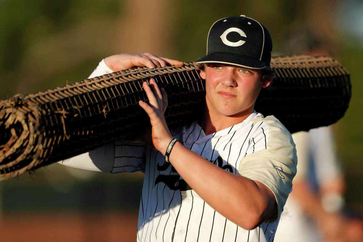 Andrew Berg has pitched some big innings for the Tigers, according to Conroe head coach Jeff Raymer.