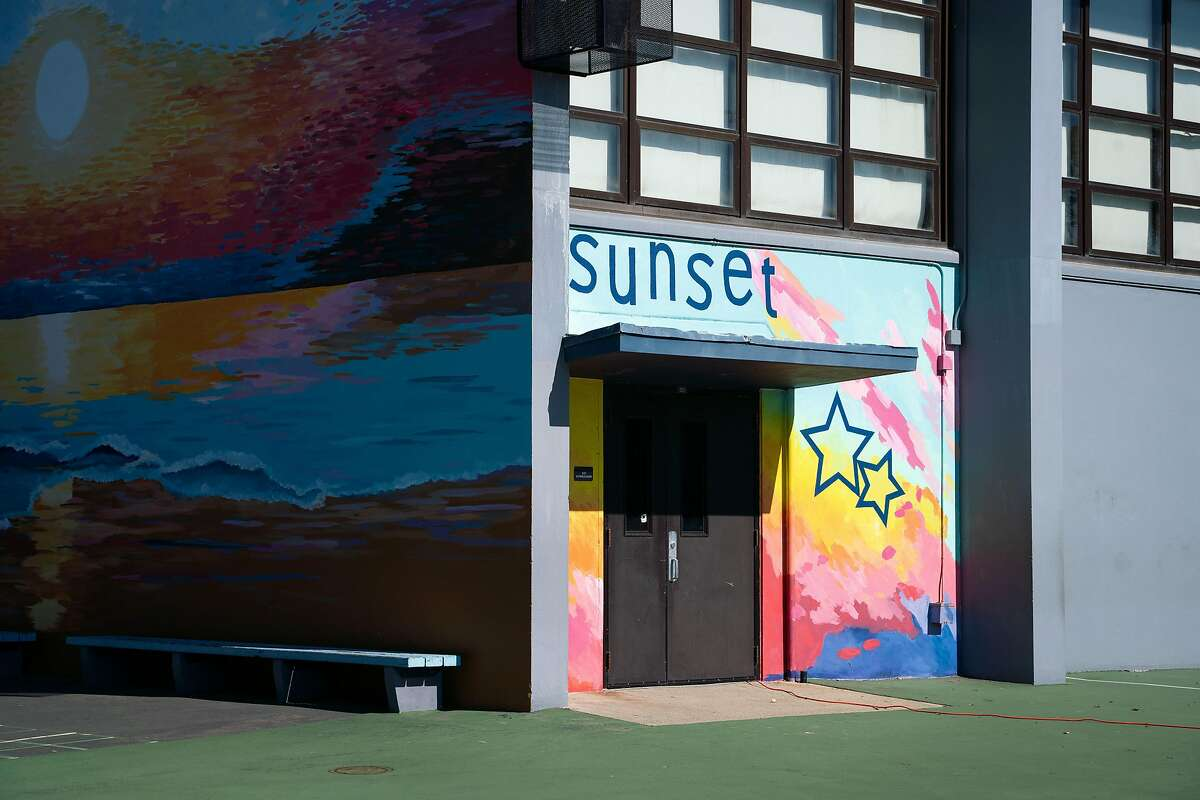 Staff and students are expected to return for in-person learning at Sunset Elementary School in San Francisco, Calif., on Wednesday, Feb. 17, 2021.