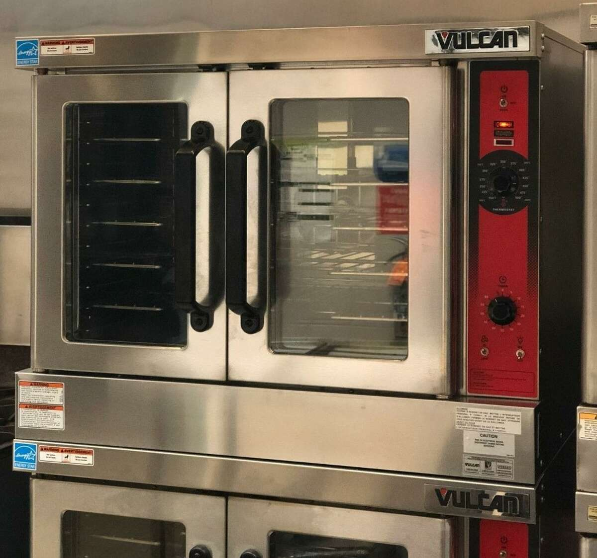 Pictured is the new convection oven at Manistee Middle High School. The oven was one of several pieces of equipment purchased through a No Kid Hungry grant from Share Our Strength.