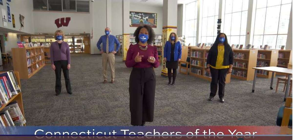 Screenshot from a public service announcement featuring Teachers of the Year created by the Connecticut Education Association, which on Wednesday launched a campaign calling on the state to quickly inoculate educators.