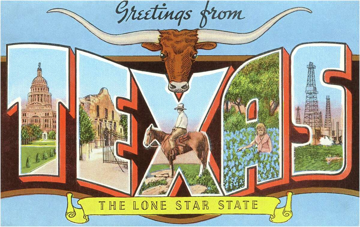As seen in this vintage 1930s postcard, longhorns have long been associated with Texas iconography. But it wasn't until 1995 that the Texas Legislature designated it an official state mammal.
