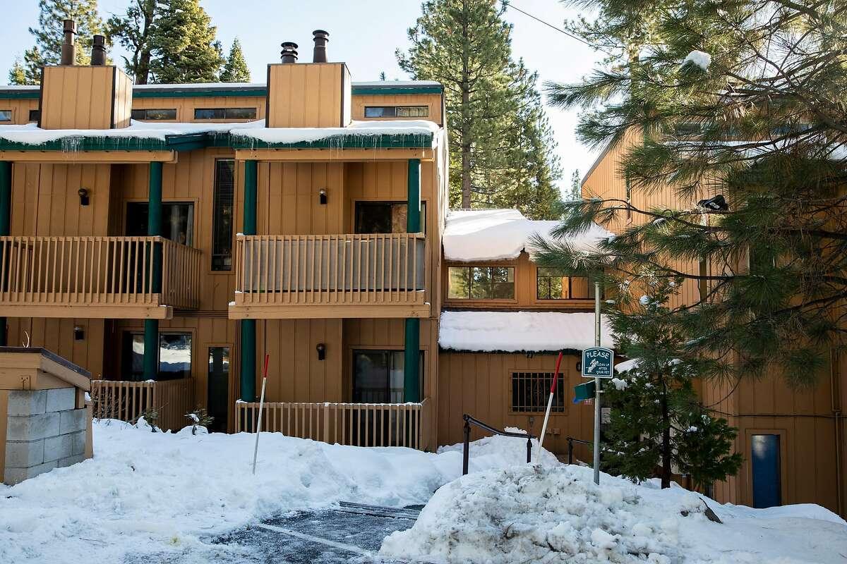 An Airbnb rental condo is seen near Lake Tahoe in Tahoe Vista in December 2020.