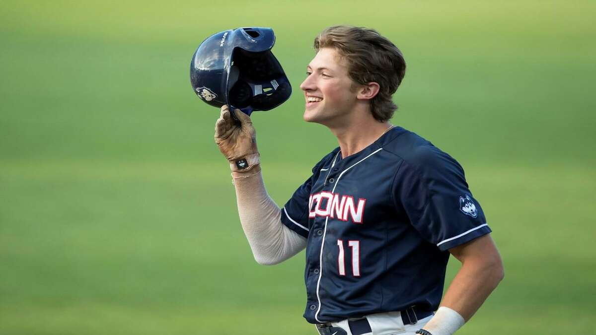 UConn senior Chris Winkel is one of seven Amity grads on rosters of Connecticut Division I baseball programs.
