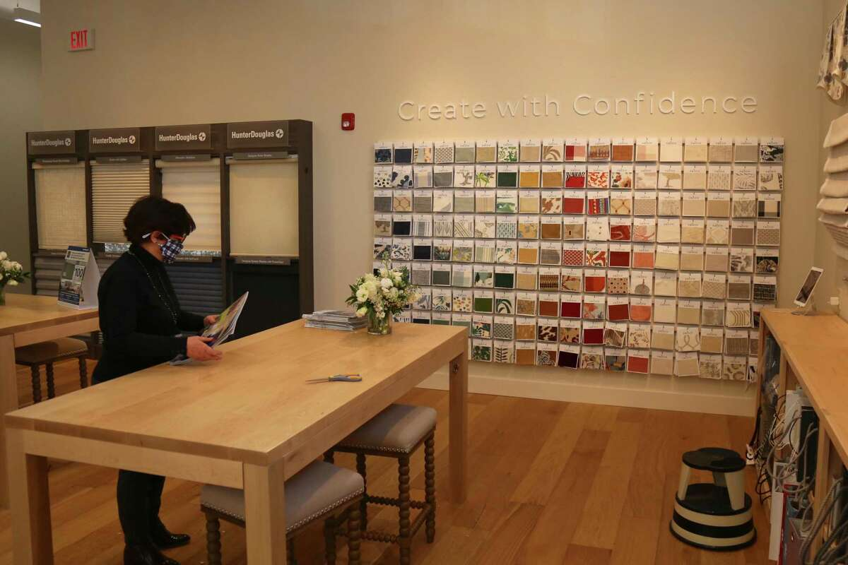 Manager Jane Peck at the new Calico store at 224 Post Road East on Tuesday, Feb. 16, 2021, in Westport, Conn.