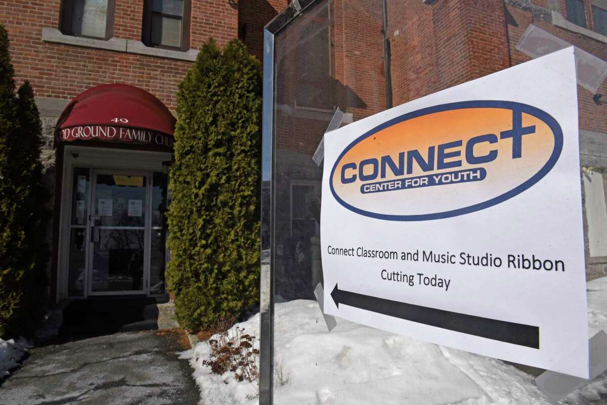 Exterior of Connect Center Music Studio & Connect Lab on Wednesday, Feb. 17, 2021 in Cohoes, N.Y. Connect Center Music Studio & Connect Lab is a new space for youth to access technology for school work, creative work, and more. (Lori Van Buren/Times Union)