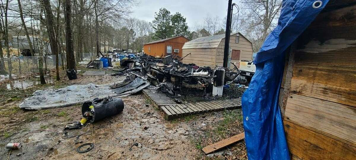 Amid the snow storm that plagued Texas, Andrew Purdue came back home to smoke at the site where his camper once stood on Tuesday, Feb. 16.
