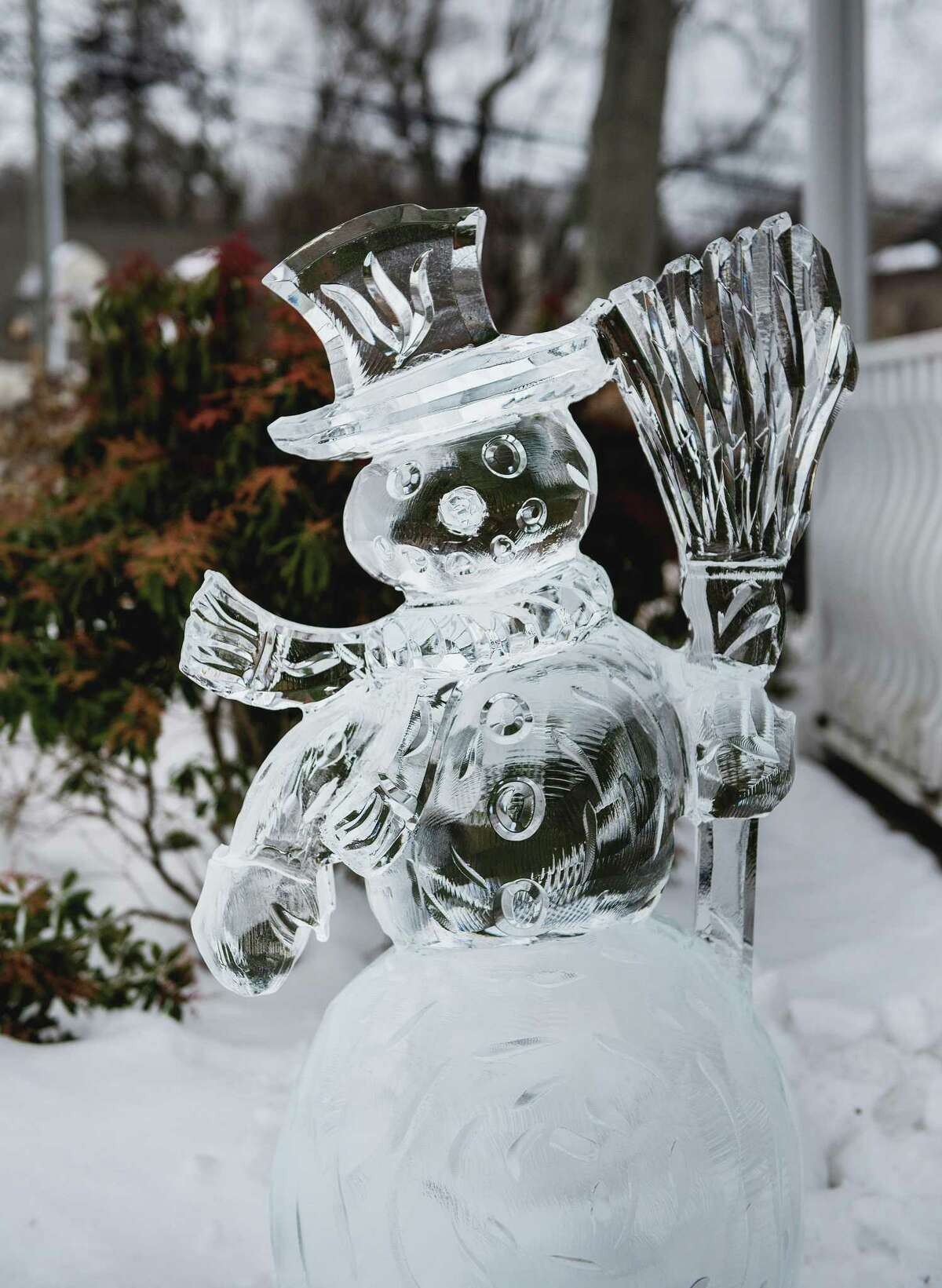 Ice sculptures were on display on the Town Green at the Chamber of Commerce's Winter Fest on Saturday, Feb. 13