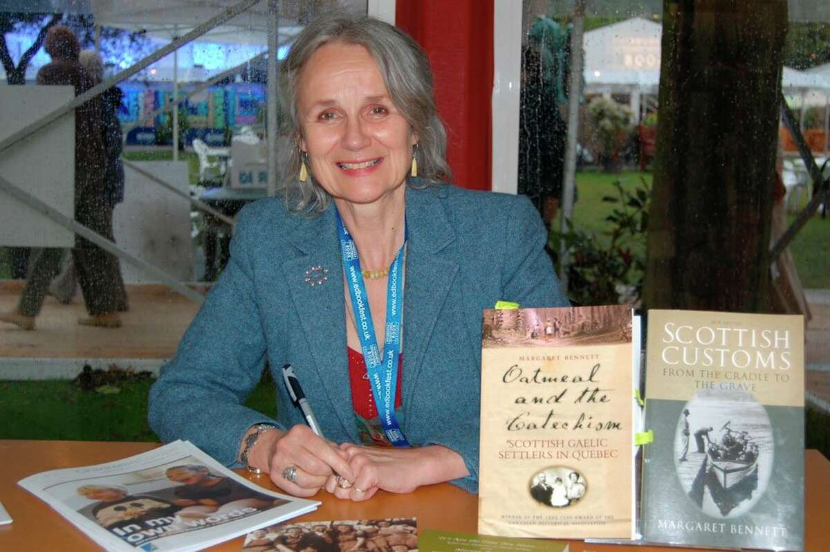 Dr. Margaret Bennett, folklorist, singer, writer and broadcaster, will be the featured guest on the West Shore Community College Humankind Series on Feb. 17. (Submitted photo)