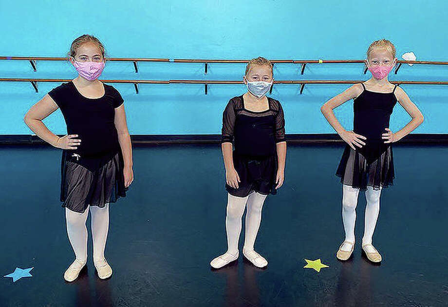 "Charlotte Lynch (from left), Jasna Hallam and Eva Wilson, all of Jacksonville, are Springfield Dance Theatre and ""Princess and the Frog"" cast members. Photo: Provided"