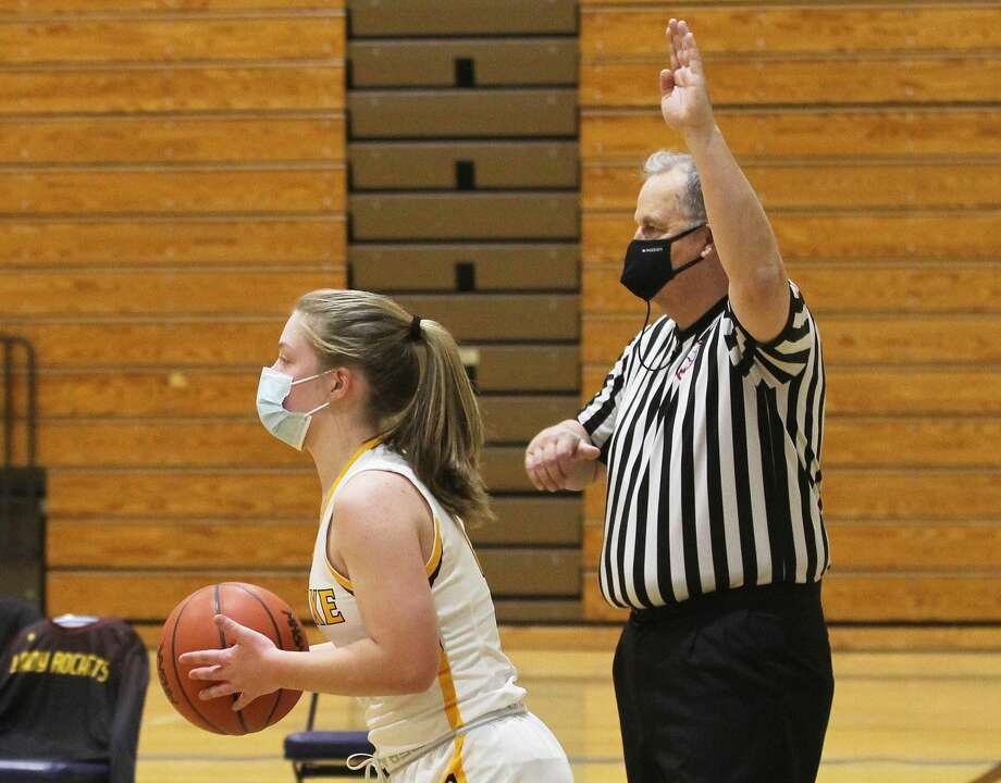 The Bad Axe girls basketball team opened its home schedule on Wednesday night with a tilt against Reese. The Rockets won, 56-36. Photo: Mark Birdsall/Huron Daily Tribune
