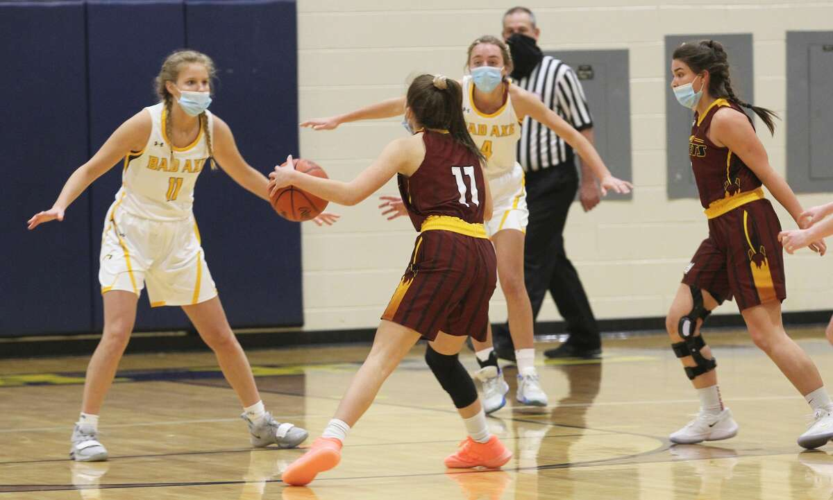The Bad Axe girls basketball team opened its home schedule on Wednesday night with a tilt against Reese. The Rockets won, 56-36.