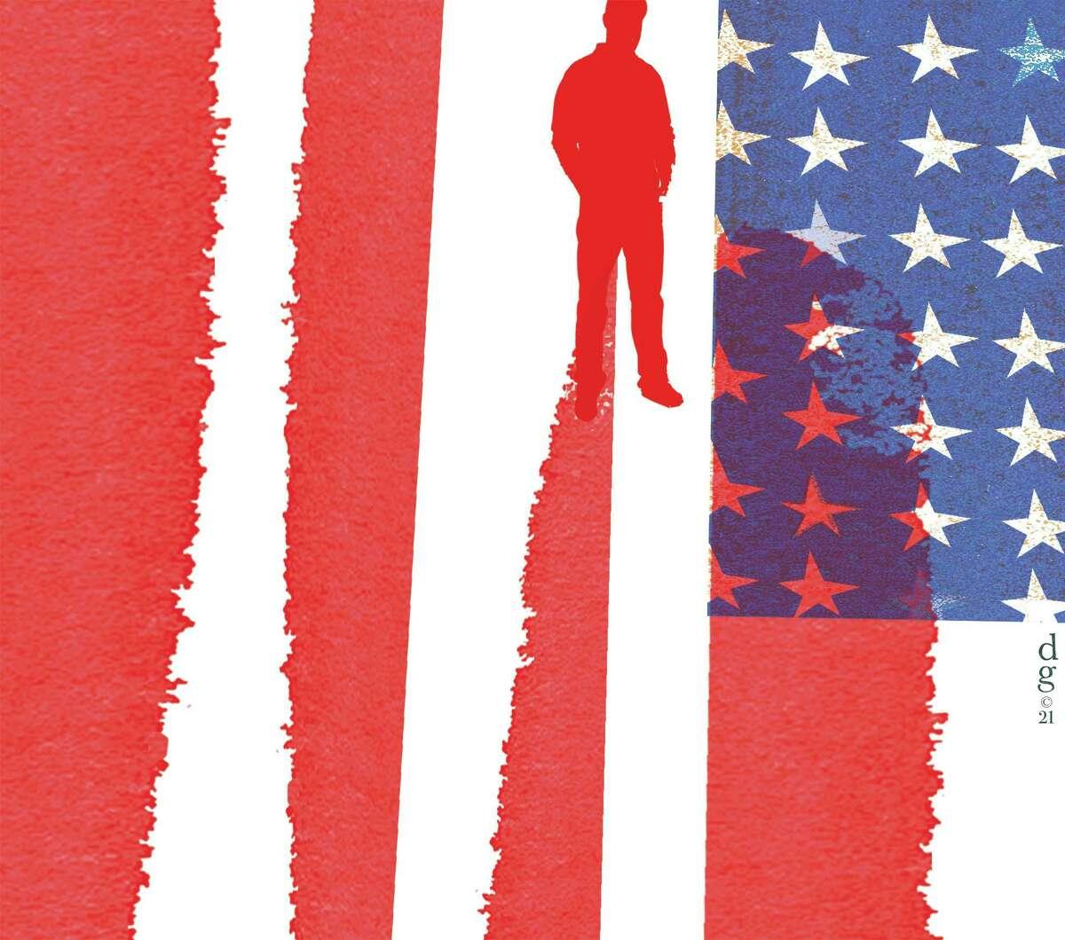 Illustration on American unity