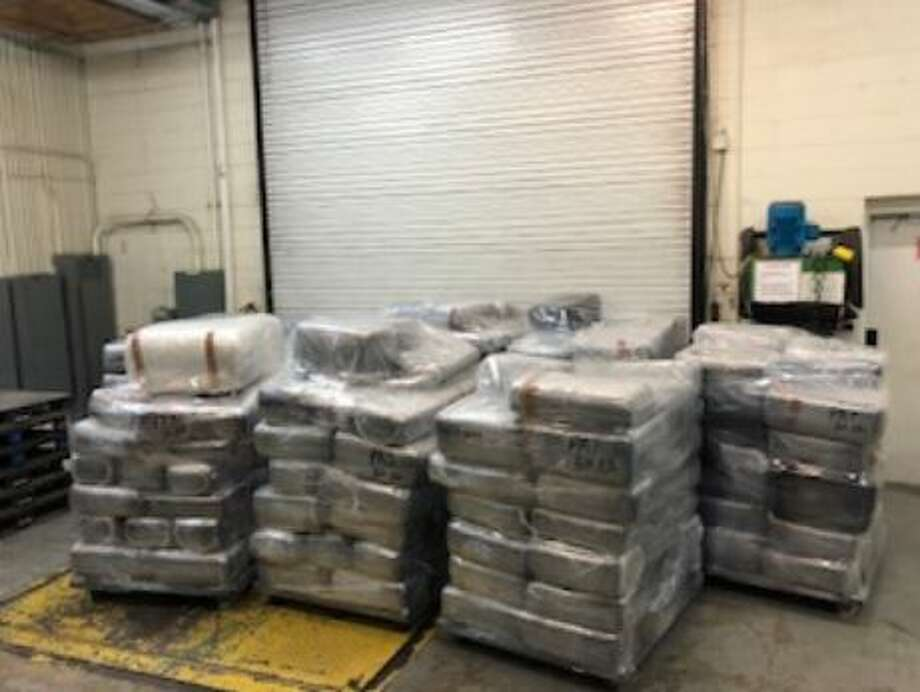 U.S. Customs and Border Protection officers seized 336 packages containing 5,280.07 pounds of marijuana at the World Trade Bridge. The contraband had an estimated street value of $1 million. Photo: U.S. Customs And Border Protection