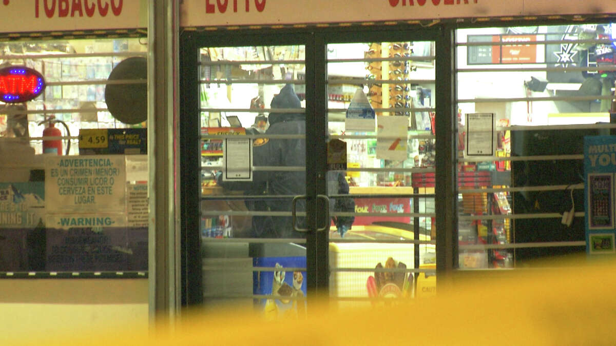 A man allegedly attempting to rob a North Side convenience store was hospitalized after getting shot by the store clerk.