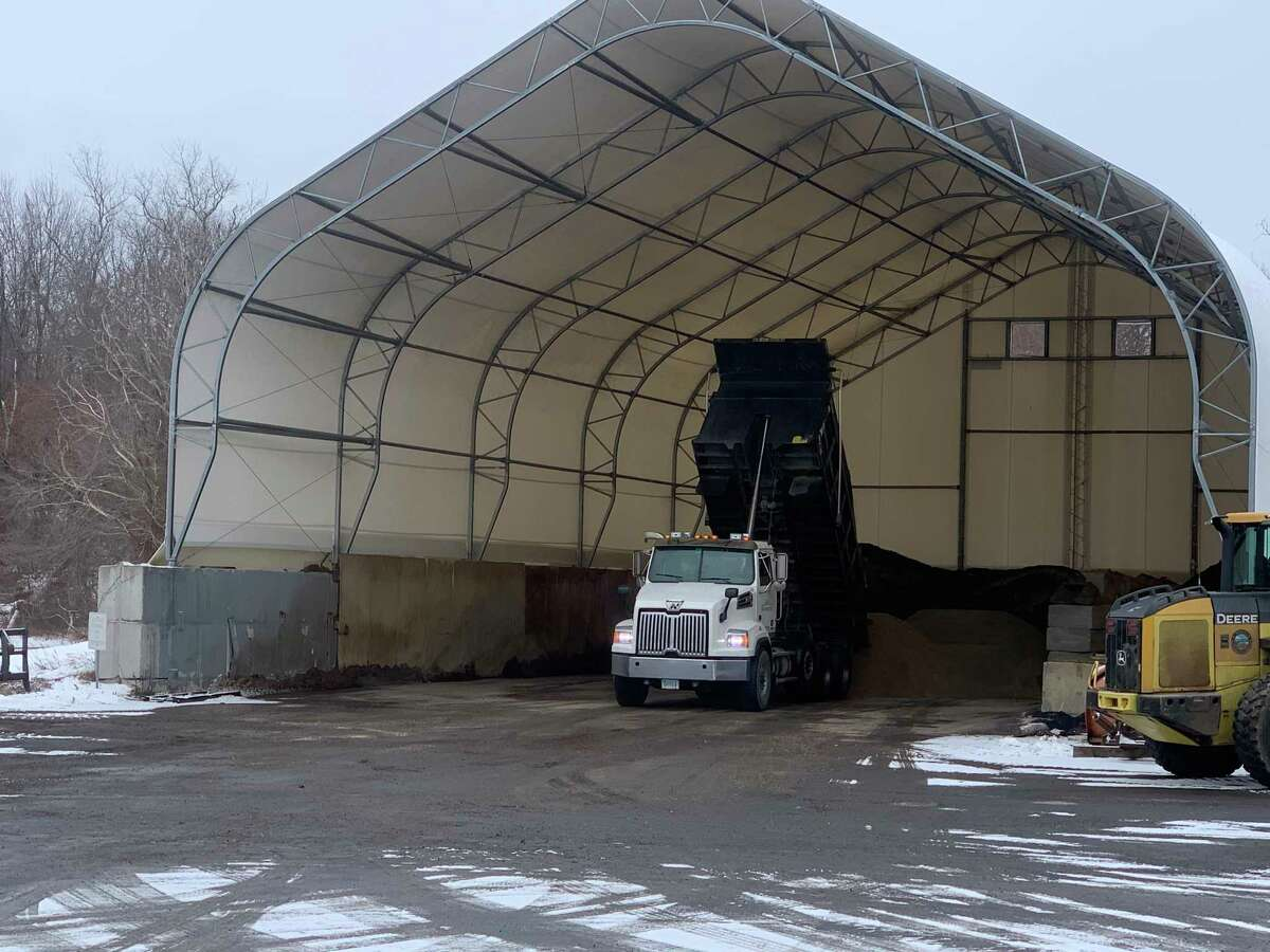 Town of Bethlehem receiving 120 tons of salt ifrom Gateway in New Haven, in anticipation of the upcoming long-term storm