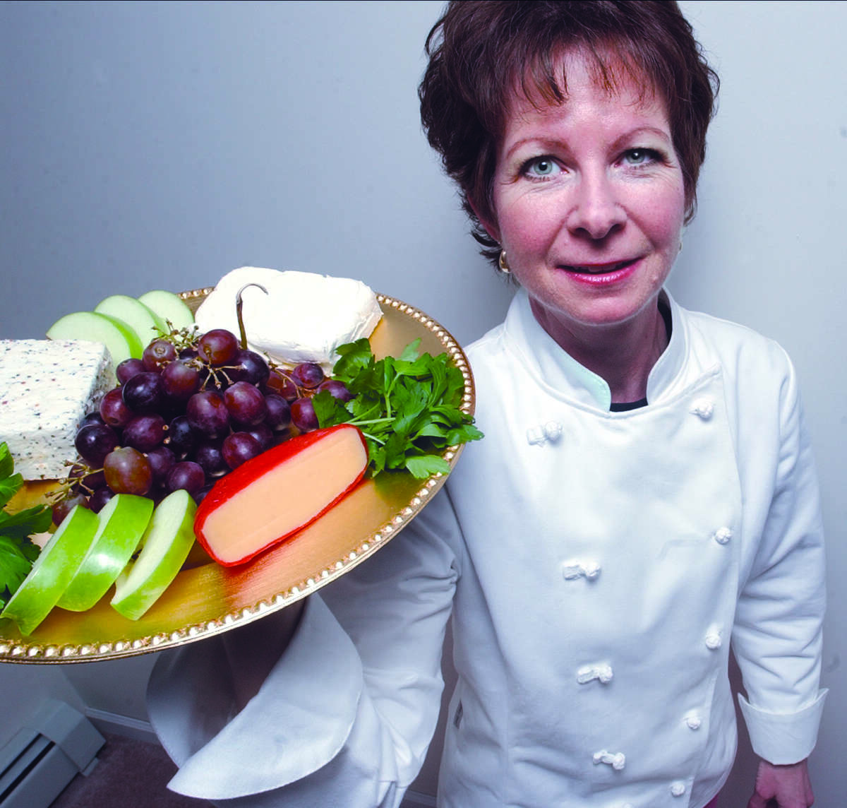 Ruth L'Hommedieu, of Cromwell, founded and runs Savory Thymes, a personal chef service......photo by Sarah Schultz.....3.30.05