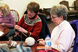 Several local women gather at the United Church of Big Rapids last year fora workshop hosted by Knitters Anonymous, as part of the2020 Festival of the Arts. (Pioneer file photo/Taylor Fussman)