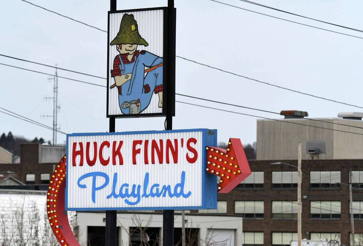 Huck Finn's Playland on Thursday, Feb. 18, 2021, in Albany N.Y. Outdoor amusement parks in New York State are now able to open in early April after being shut down since the start of the pandemic. (Will Waldron/Times Union)