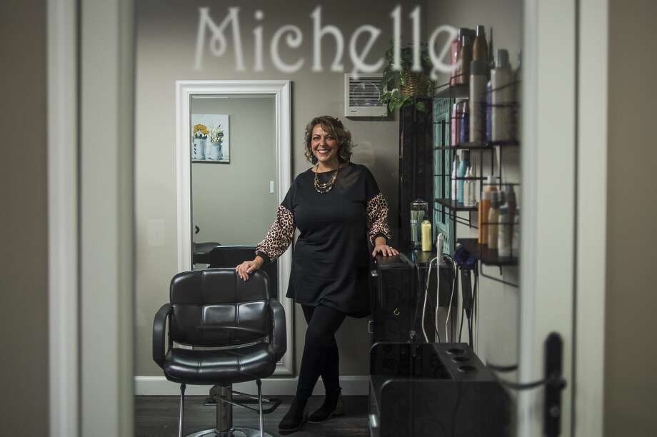 Michelle Lange poses for a portrait inside her new business, Lavish Style Studios, Wednesday, Feb. 17, 2021 at 4915 Hedgewood Drive in Midland. (Katy Kildee/kkildee@mdn.net) Photo: (Katy Kildee/kkildee@mdn.net)