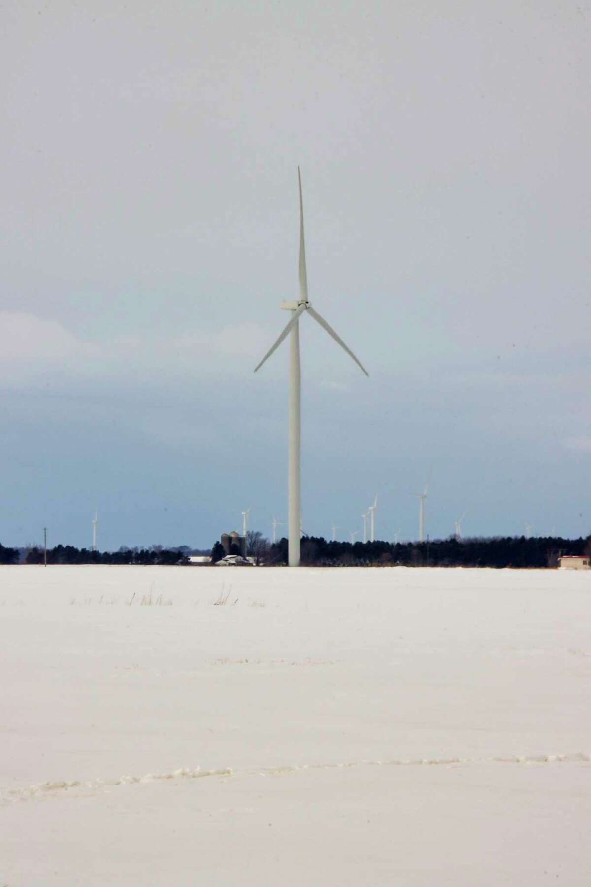 While some people may hate on wind turbines and power transmission lines, DTE Energy officials say the power grid in the Upper Thumb has enough redundancies to avoid blackouts like Texas recently experienced. (Scott Nunn/Huron Daily Tribune)