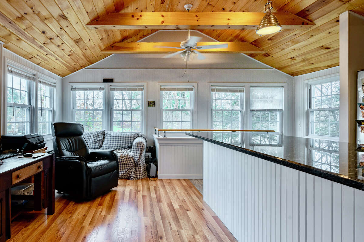 One-bedroom apartment above detached garage at 186 Long Hill Road, Middletown.