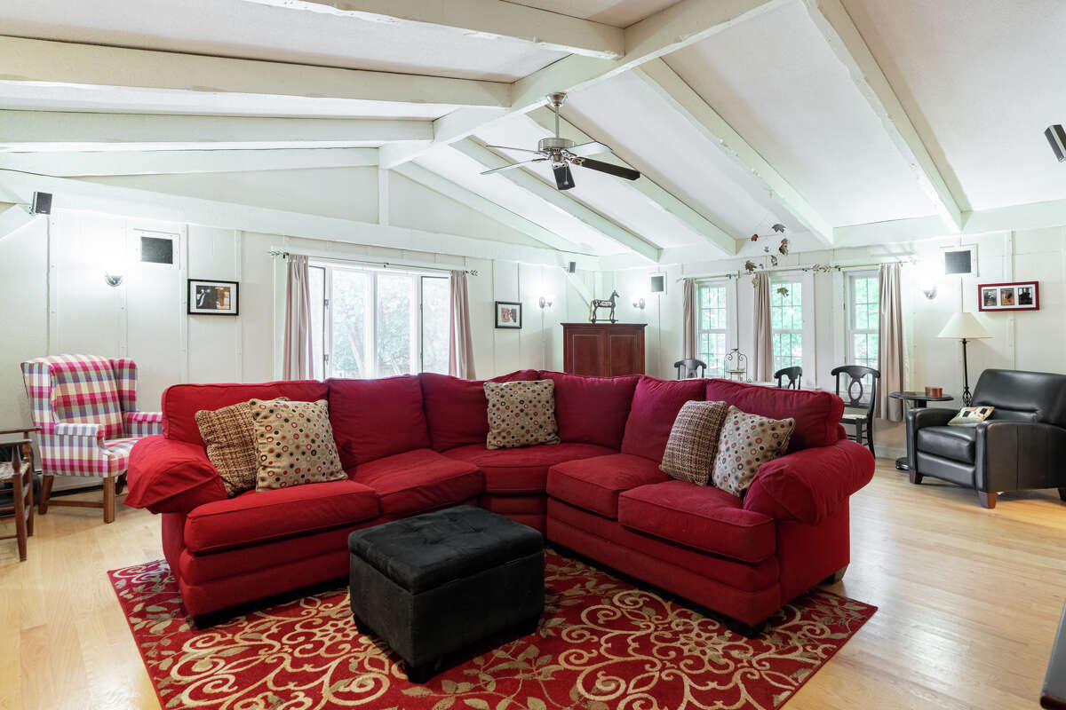 Family room at 186 Long Hill Road, Middletown.