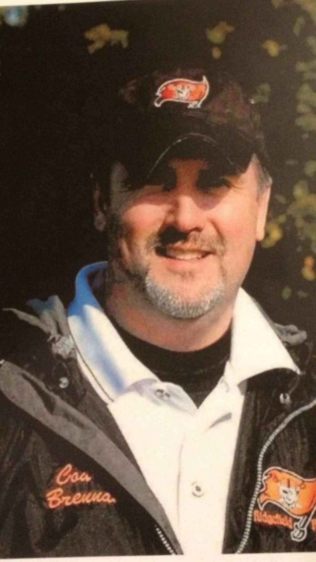 Edward Brennan, 50, beloved father, husband and coach who died of of a cardiac event at a Ridgefield health club in Dec. 2012.