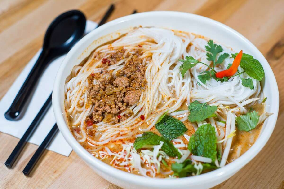 Kao Poon (Lao Spicy Curry Coconut Noodle Soup) from Flavor Lao Bowl