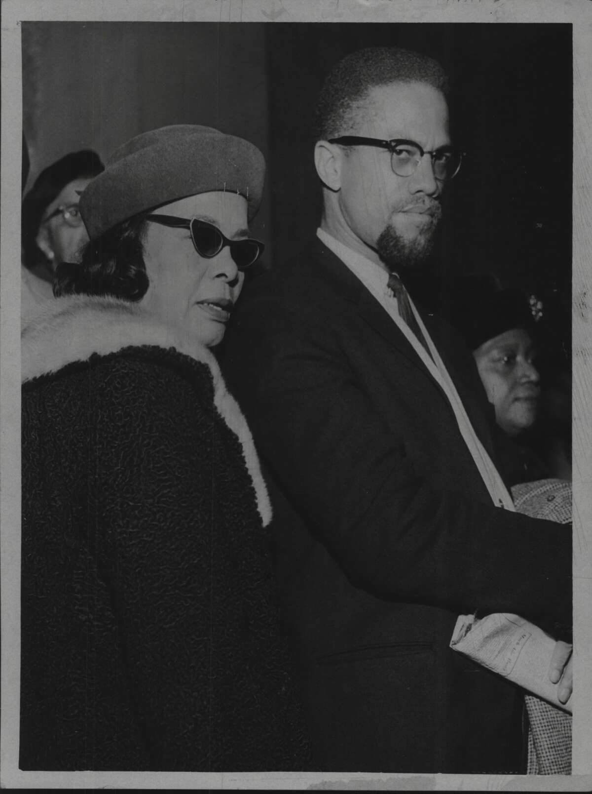 Malcolm X & Viola McCain visit the New York State Legislature. January 7, 1965 (Times Union Archive)
