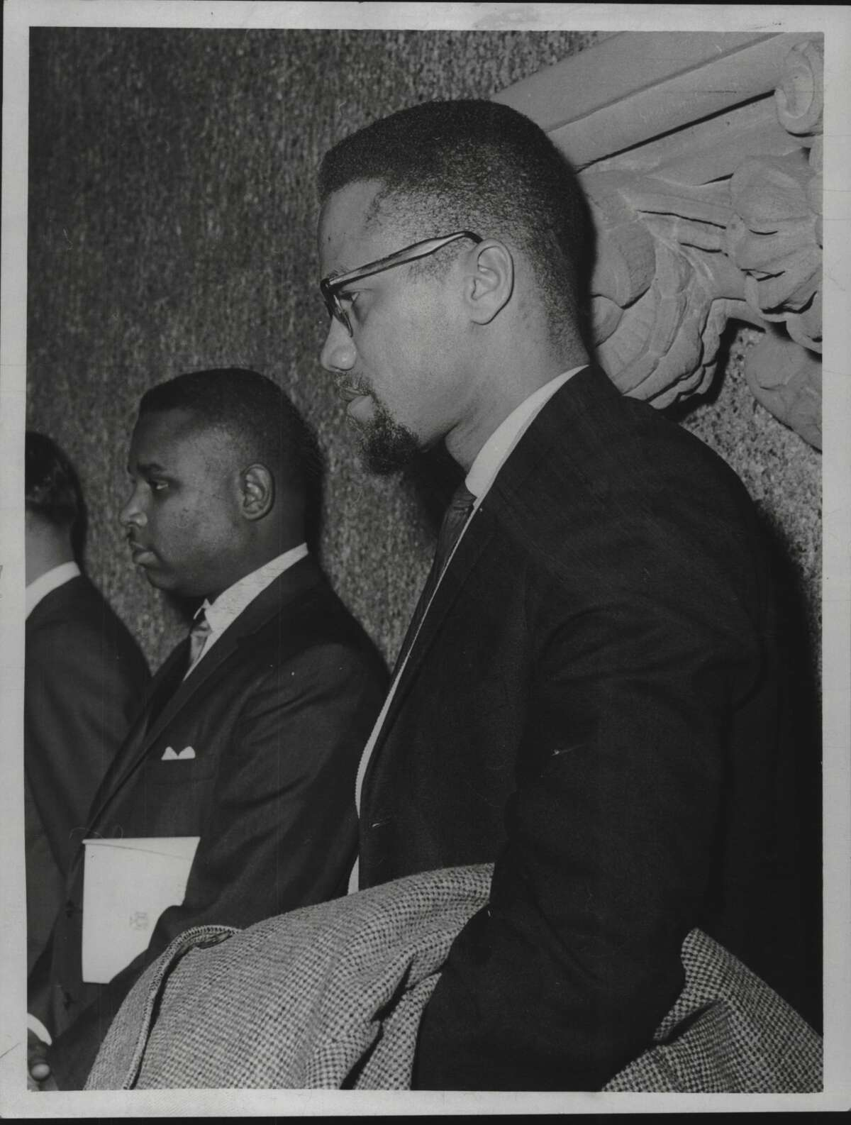 Malcolm X in Albany, New York. January 7, 1965 (Times Union Archive)