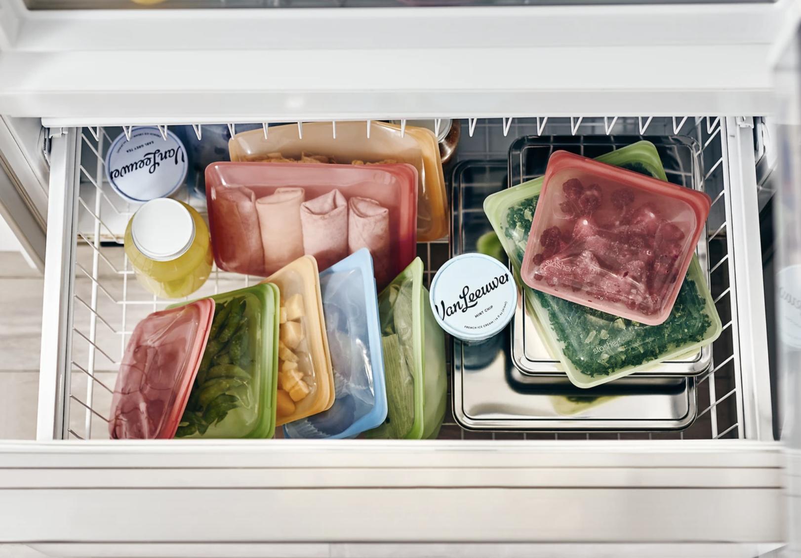 Stasher 100% Silicone Food Grade Reusable Storage Bag, (Bundle 4-Pack Small), $49.99 at Amazon