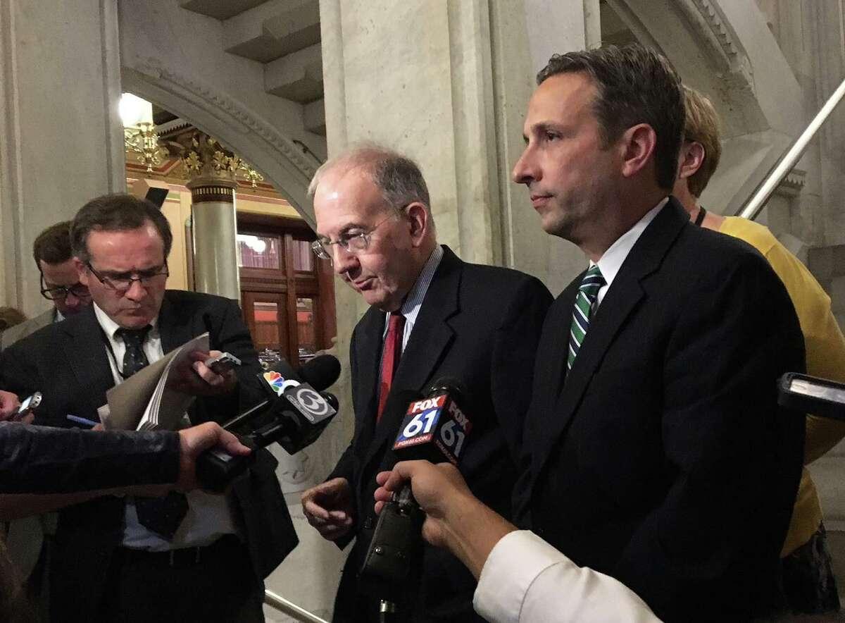 Senate President Pro Tempore Martin Looney, D-New Haven, and Senate Majority Leader Bob Duff, D-Norwalk.