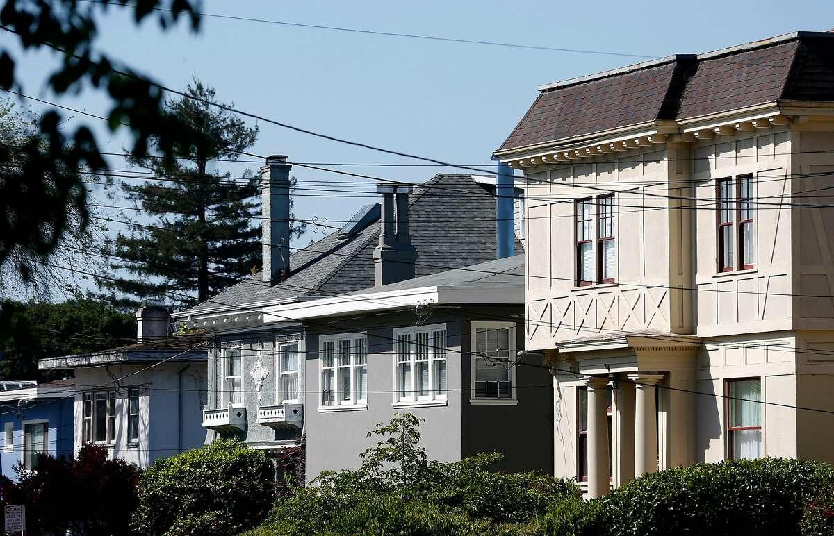 Apartment buildings on College Avenue in the Elmwood neighborhood of Berkeley.