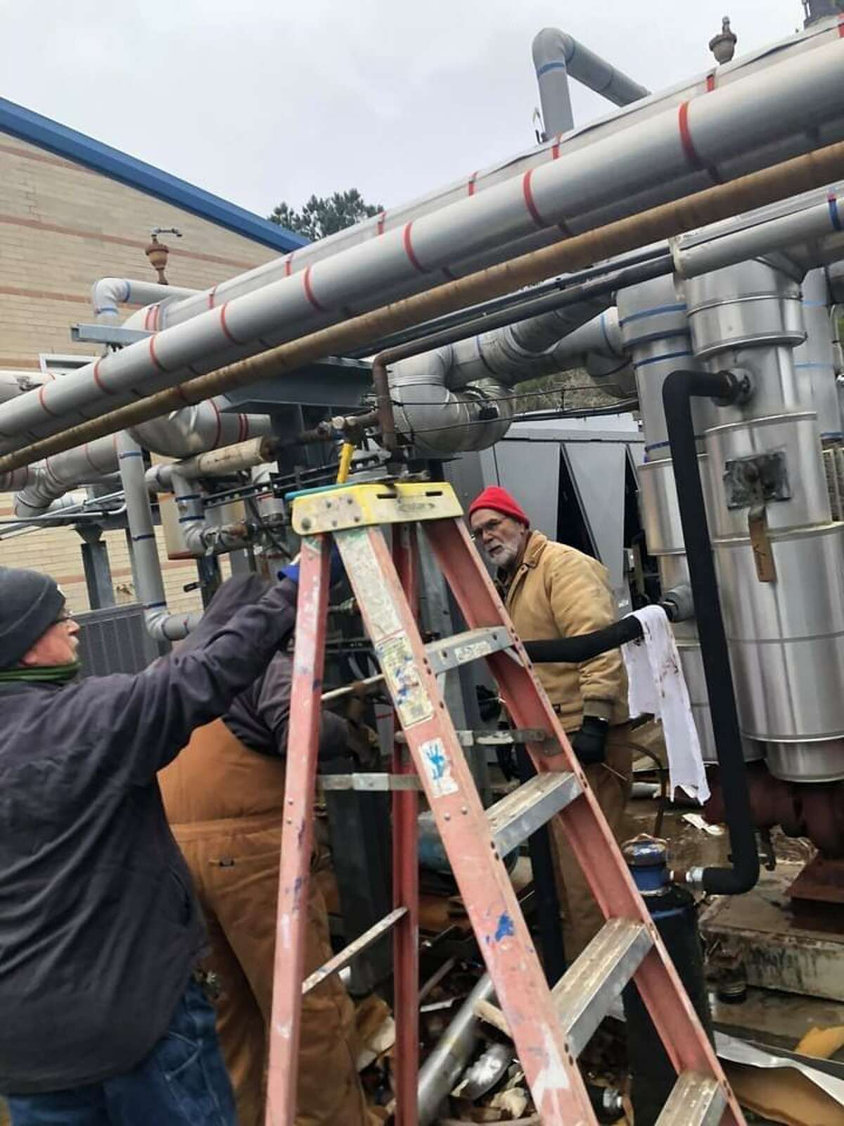 Maintenance crews at Buna ISD worked to repair and replace busted pipes after a hard freeze impacted the region this week. School is expected to resume on Monday.