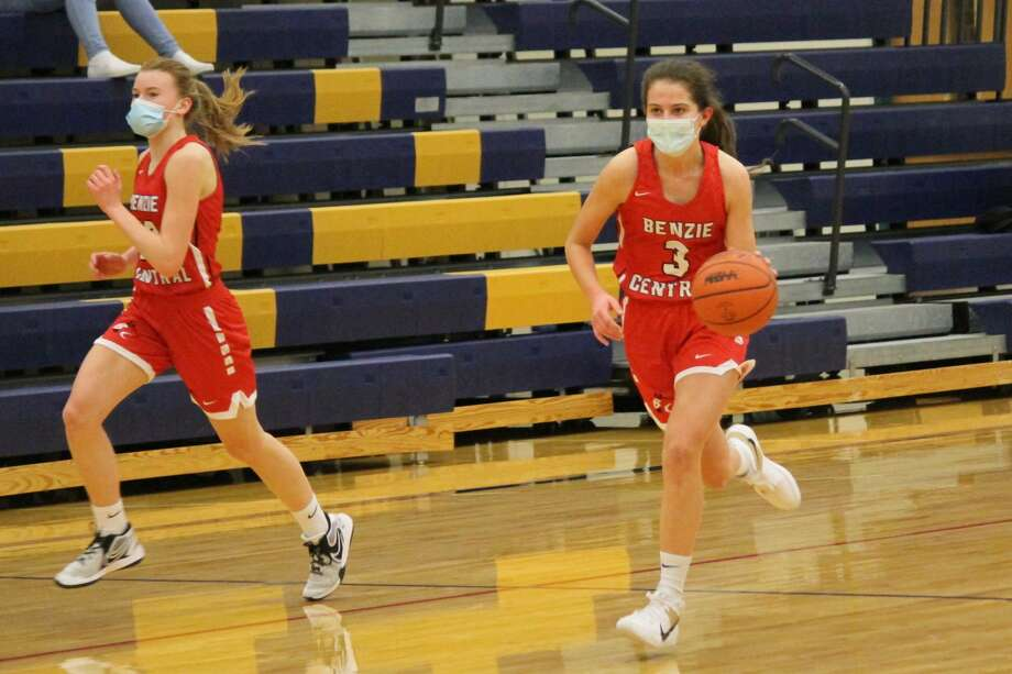 Benzie Central and Onekama meet in girls basketball on Feb. 18, resulting in a 49-30 Benzie Central victory Photo: Robert Myers