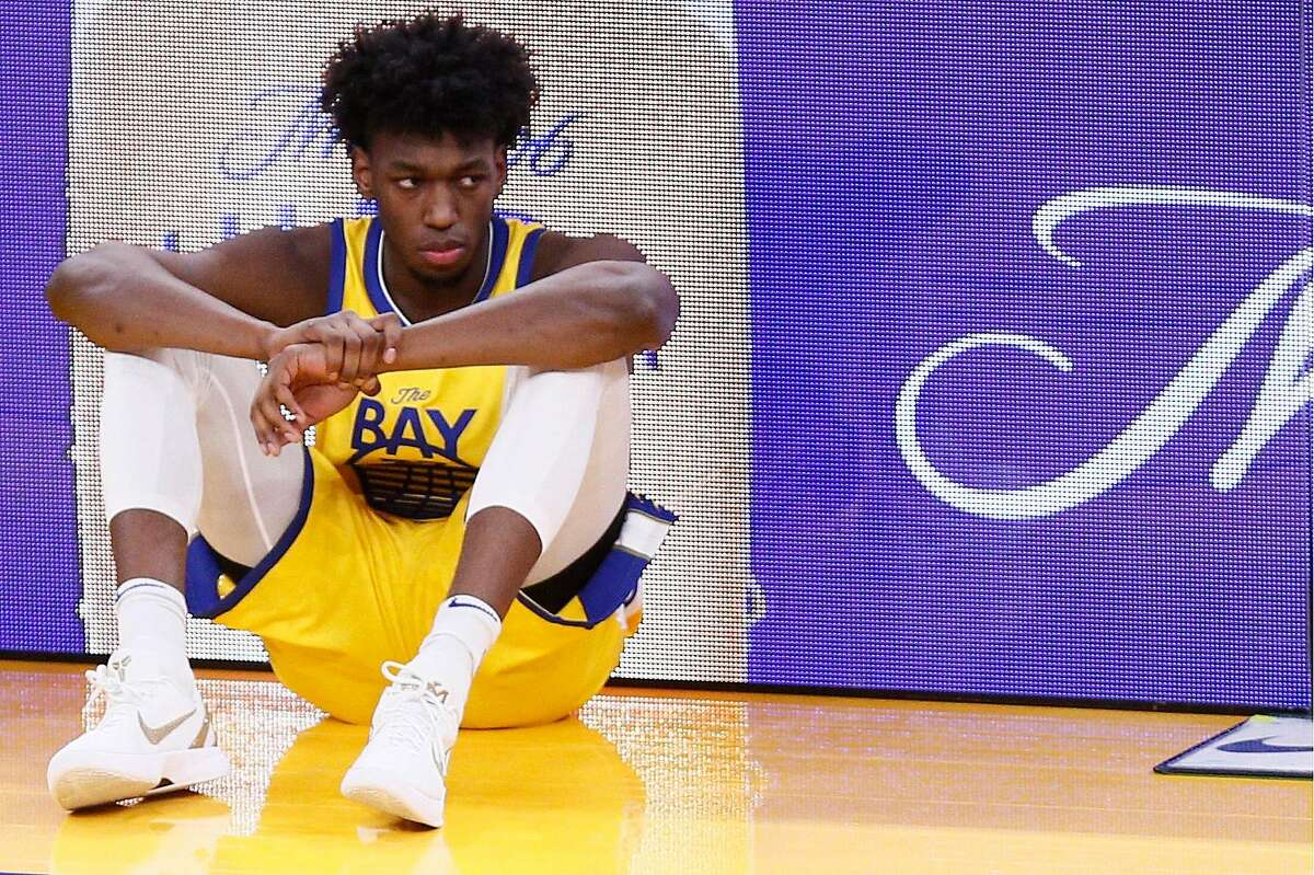 James Wiseman, forced to sit with an injured wrist, averages 12.2 points, 6.1 rebounds and 1.3 blocks in 21 minutes.