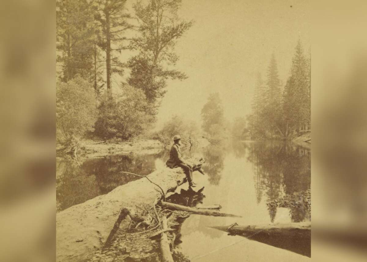 Washington Column Benjamin West Kilburn enjoys a tranquil scene in the Yosemite Valley circa 1870. This was20 years before the valley and surrounding lands became the nation's third national park.