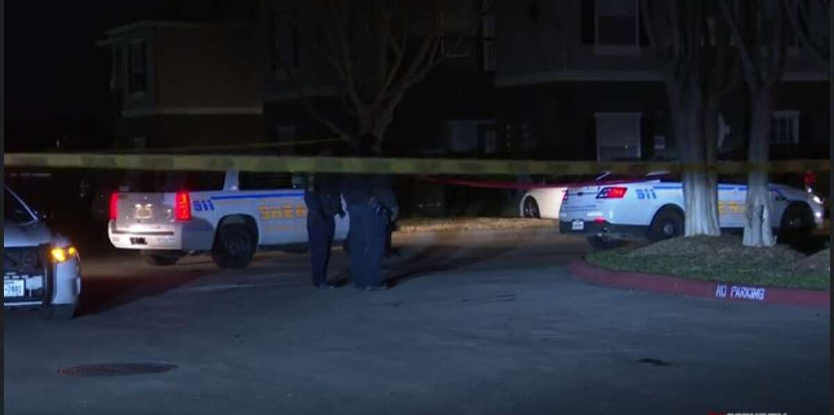 Harris County Sheriff's Office deputies investigating a fatal shooting Thursday night on Wortham Boulevard.