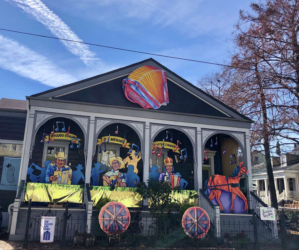 The city canceled Mardi Gras parades and floats. In response, thousands of homes around the city installed artful