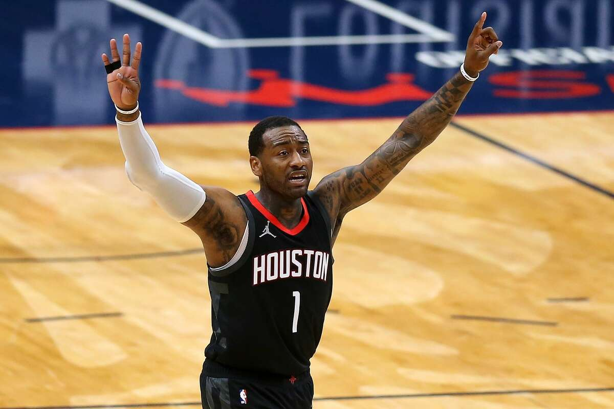 John Wall donated over 500 meals to Houston residents affected by the snow storm. (Photo by Jonathan Bachman/Getty Images)