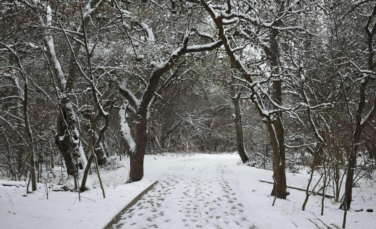 San Antonio snow Feb. 18, 2021.