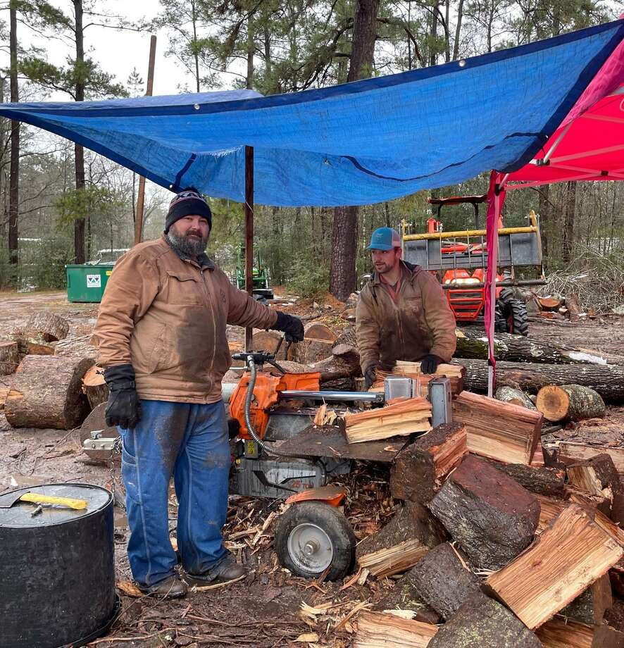 The Lynch family off off of Stidham road sold wood for the community and it became a family operation with teens, family members, friends and neighbors all helping to get wood out. Photo: Photo Courtesy Jodey Lynch Lawhorn