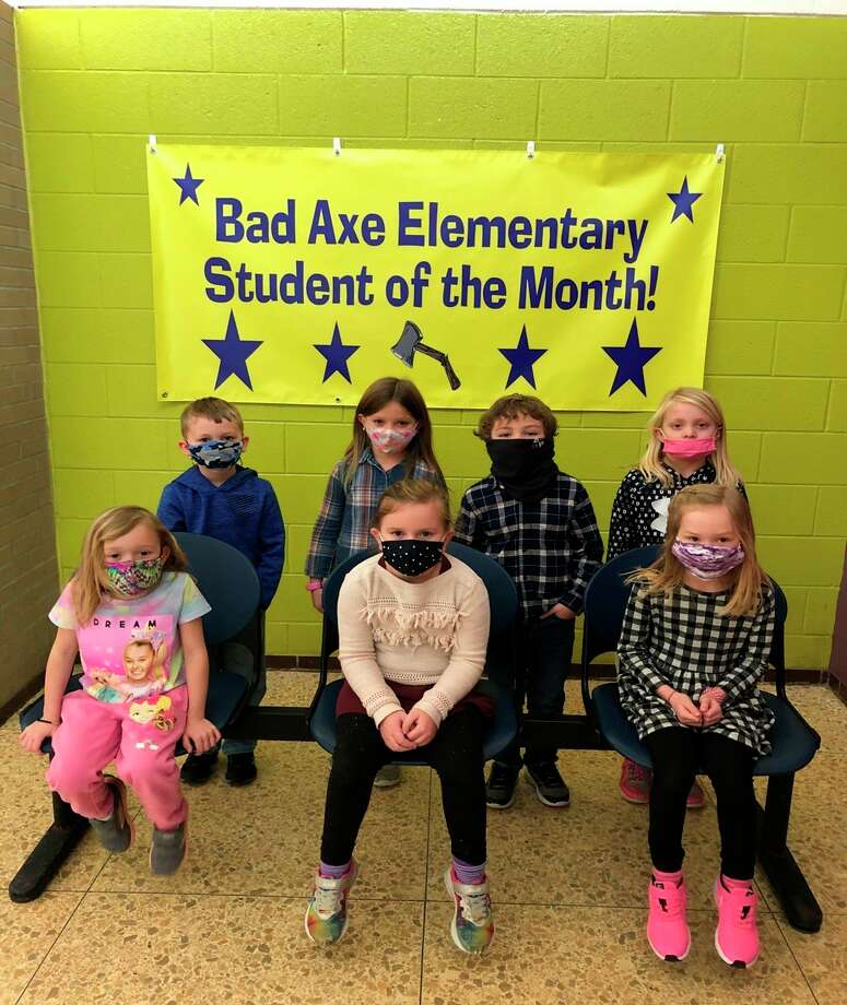 The Bad Axe Elementary students named are Young Five -- Morgan Bambach; Kindergarten -- Liv Gottschalk, Marin Straight, Keira Johnson; First grade -- Austin Bensinger and Lucy Wolschlager and second grade Peyton Soule and Isaiah Arntz. (Submitted Photo)