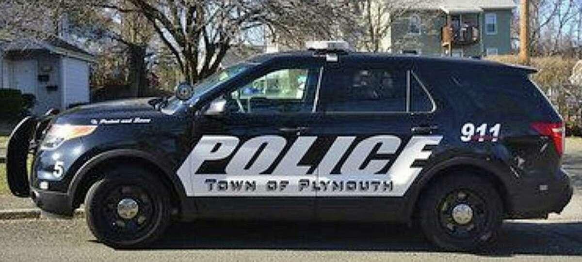 A file photo of a Plymouth, Conn., police cruiser.